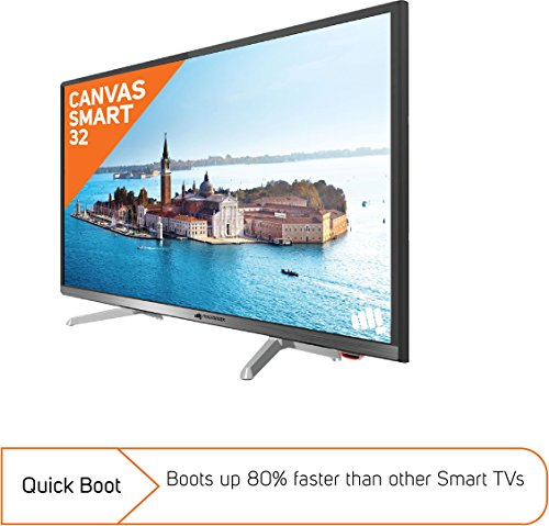 Micromax 32 Inches HD Ready LED Smart TV (CANVASS2, Silver)