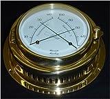 Schiffs Thermometer / Hygrometer 155 mm Messing schwer