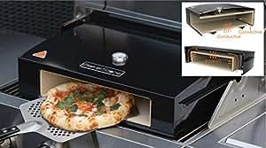 Bakerstone Four à pizza pour barbecue à gaz avec pierre de cuisson en céramique 38cm