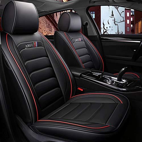 , Universal-Lederkissen Komplett Geschlossen Seasons Protectors Pad Vorne Hinten 5-Sitzer-Komplettsatz (Color : Black) ()