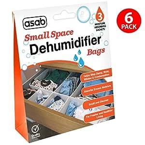 Wardrobe Dehumidifier Bags Drawers Dehumidifying Sachets Small Spaces Moisture Trap Damp