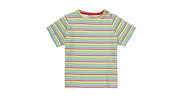 Piccalilly Organic Cotton Blue Baby Boys Primary Stripe Baby Body