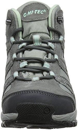 Hi-Tec Alto II Mid Waterproof, Stivali da Escursionismo Alti Donna Grigio (Steel Grey/grey/lichen)