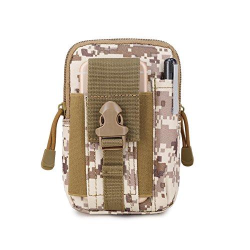 SYSI Outdoor Sport Taktische Taschen 5,5 / 6 Zoll Wasserdichte Handy Tasche Waist Bag Multifunktional für Camping Reise Wandern Braun 1
