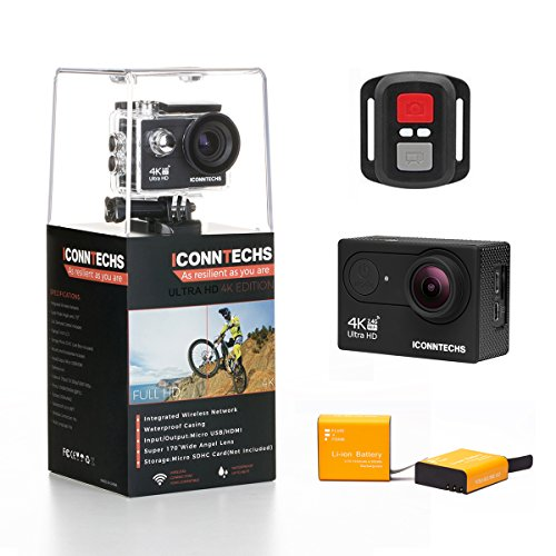 ICONNTECHS IT Action Camera 4K 30fps 20MP Action Cam per Casco Videocamera Subacquea wifi 170 Gradi Grandangolare Fotocamera Sportiva Impermeabile