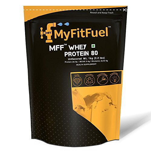 Myfitfuel Mff Whey Protein 80 - 1 Kg (2.2 Lbs) Unflavored