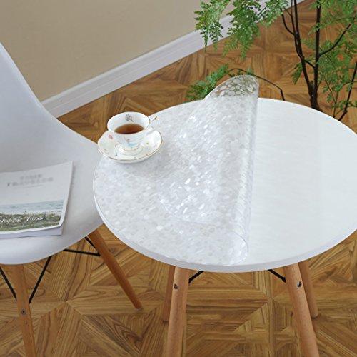 BSNOWF- Nappes Tapis de table étanches Accueil Tapis de café ronds Plaques de cristal en verre doux Simple moderne Taille En option (Couleur: Rond / 1,5mm) ( Couleur : B , taille : Round-60cm )