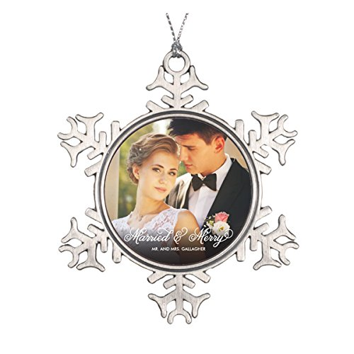 nd Merry First Christmas Foto Ornament ()