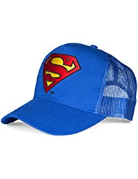 Superman Comic Retro Trucker Mesh Cap Basecap SUPERMAN LOGO Blau