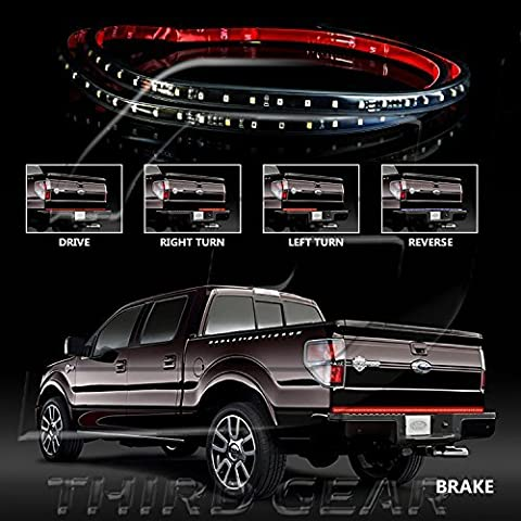 60 Red/white Tailgate LED Strip Light Bar Truck Reverse Brake Turn Signal Tail for 1999-2016 Ford All F-150 F-250 F-350 F-450 by Optix