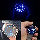 blueuk 2015Luminous Streifen Kreis Ball Stahl Spiegel Uhr Personalisierte Uhren LED Elektronische Armbanduhr Cute