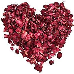 XCOZU 100 Grammi Petali di Rosa Naturali Secchi Petali Rosa per Bagni Termali Matrimoni Casa Letto Feste e Bricolage Accessori Fai da Te Biodegradabili