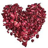 XCOZU Getrocknete Rosenblätter, 100 Gramm Natürliche Rote Rosen Echte Blume Rosenblatt Konfetti...