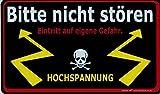 Schild Sprüche - BITTE NICHT STÖREN - HOCHSPANNUNG - 309260 - 25cm x 15cm - Arbeit