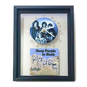 DEEP PURPLE - In Rock: GERAHMTE CD-WANDUHR/Exklusives Design
