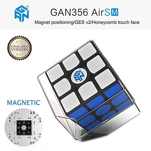 Roxenda Gan 356 Air SM Magnético Speed Cube Ganspuzzle Profesional 3x3x3 Cubo de Velocidad Negro