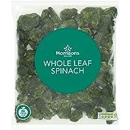 Morrisons Whole Leaf Spinach, 1kg (Frozen)