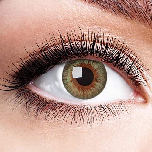 Farbige Kontaktlinsen Grün Ohne Stärke Weiche Natürliche Grüne Jahreslinsen Linsen Farblinsen 0 Dioptrien Natürlich 1 jahr The Famous Five grün