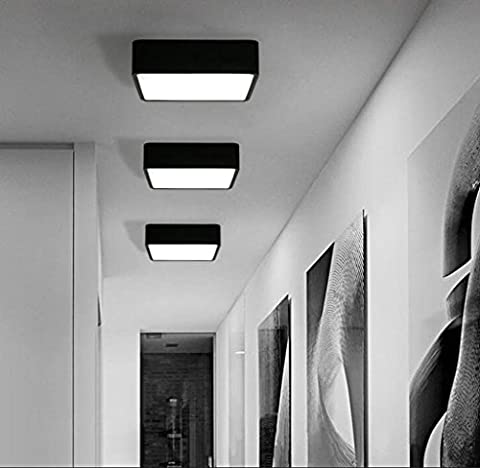 Modern Design Room Ceiling Lamp Table Living Room Ceiling Light Bedroom Lamp geometry Minimalistic Iron Acrylic Restaurant Warm Lamp LED Ceiling 16W Black 30*
