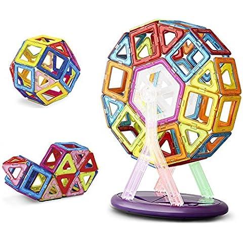 Keten Construcciones Magneticas Juegos de Construcción para Niños [52pcs]-Upgraded Juguetes Magnéticos Apilamiento de Construcción Juguetes para Niños Mayores de Tres