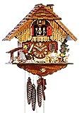 Selva Horloge à Coucou en Bois Massif décorée de manière détaillée avec Un Train de Jour 1 pièce (Hauteur : 36 cm) - C341950