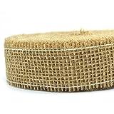 JUTE Dekoband NATUR Rolle 25 m x 4 cm Juteband Naturjute Geschenkband Schleifenband Gitterband Sisal Ribbon