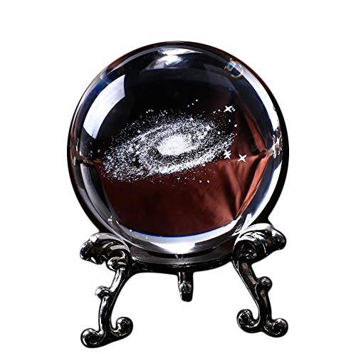 Design Napolo 6CM Durchmesser Globus Galaxie Miniaturen Kristall Kugel 3D Laser Graviert Quarz Glas - Quarz-kristall-globus