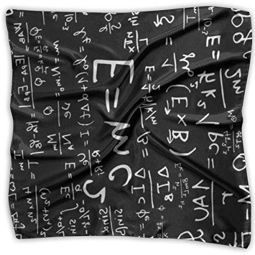 Engel Hobo Bag (Hoklcvd Elegant Silk Feel Math Pattern Black Satin Square Scarf Wrap)