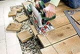 Bosch DIY Kreissäge PKS 55 A, 1 Hartmetallsägeblatt Speedline Holz, Parallelanschlag, Karton (1200 W, Nenn-Ø Sägeblatt 160 mm, 0 - 55 mm Schnitttiefenbereich bei 90°) -