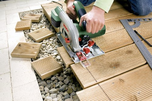 Bosch DIY Kreissäge PKS 55 A, 1 Hartmetallsägeblatt Speedline Holz, Parallelanschlag, Karton (1200 W, Nenn-Ø Sägeblatt 160 mm, 0 – 55 mm Schnitttiefenbereich bei 90°) - 3