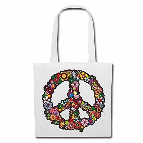 Tasche Umhängetasche Peace Freiheit Frieden WELTFRIEDEN Umwelt NATURSCHUTZ Peace Freiheit Frieden WELTFRIEDEN Umwelt NATURSCHUTZ Einkaufstasche Schulbeutel Turnbeutel in Weiß