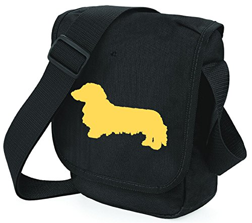 Bag Pixie - Borsa a tracolla unisex adulti Fawn Dog Black Bag
