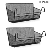 SUMNACON 2 Pcs Bedside Hanging Storage Baskets Dormitory Bed Organiser Caddy Desktop Storage Rack for Home Office School Dorm Room Bunk bed