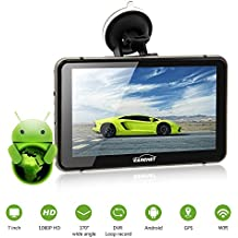 Navegador GPS para Coche-Táctil Pantalla 7 Pulagadas 8G 512MB Android 4.4 Transmisor FM HD 1080P DVR WIFI con Mapa Europa Idioma Español Coche DVR Dashcam Visión Nocturna