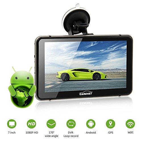 """Preisvergleich Produktbild CARCHET Auto GPS Navigation mit DVR Android 7"""" 1080P DVR Navigationsgerät 8GB EU Landkarte"""