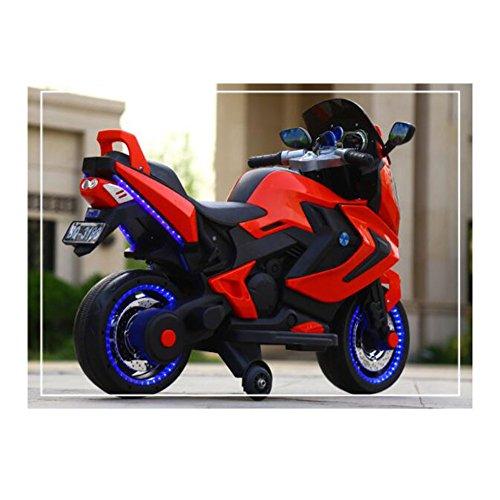ektrisches Motorrad-Dreirad 2-3-5-8-jähriges männliches und weibliches Baby kann ein Spielzeugauto reiten Wenn dieses Projekt Ihren Erwartungen nicht entspr (Farbe : Rot) ()