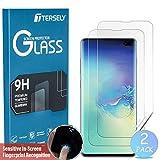 Tersey Lot de 2 protections d'écran pour Samsung Galaxy S10, couverture intégrale...