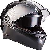 """ARMOR · AF-77 """"Shiny Black"""" (Schwarz) · Integral-Helm · Scooter-Helm Roller Cruiser Sturz-Helm Full-face Sport · ECE certified · Separate Visors · Click-n-Secure™ Clip · Tragetasche · S (55-56cm)"""