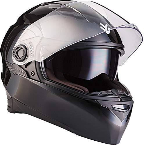 "ARMOR HELMETS® AF-77 \""Shiny Black\"" · Integral-Helm · Full-Face Motorrad-Helm Roller-Helm Scooter-Helm Cruiser Sturz-Helm Street-Fighter-Helm MTB · ECE Sonnenvisier Schnellverschluss Tasche S (55-56cm)"