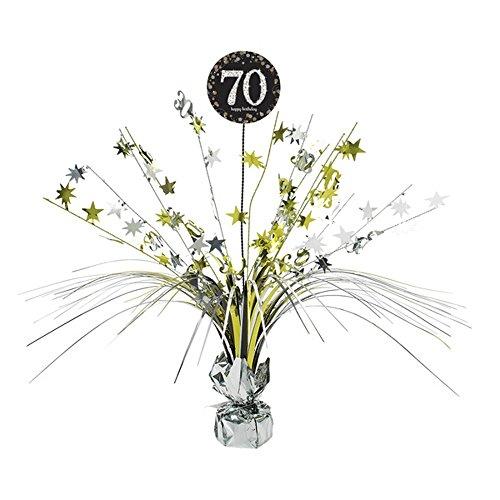 Amscan Goldene Tischdekoration zum 70.Geburtstag (Einheitsgröße) (Gold/Silber)
