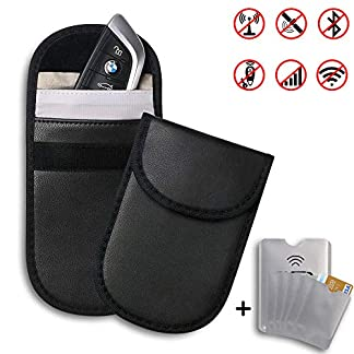 flintronic-2-x-Keyless-Go-Schutz-Autoschlssel-6X-RFID-Blocker-Schutzhllen-Strahlenschutz-Tasche-Keyless-Blocker