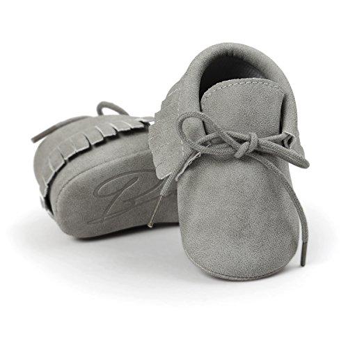 RVROVIC , Baby Jungen Lauflernschuhe Babyschuhe Mädchen Quasten Sneakers Casual rutschfeste Schuhe Leder Baby-schuhe Walker