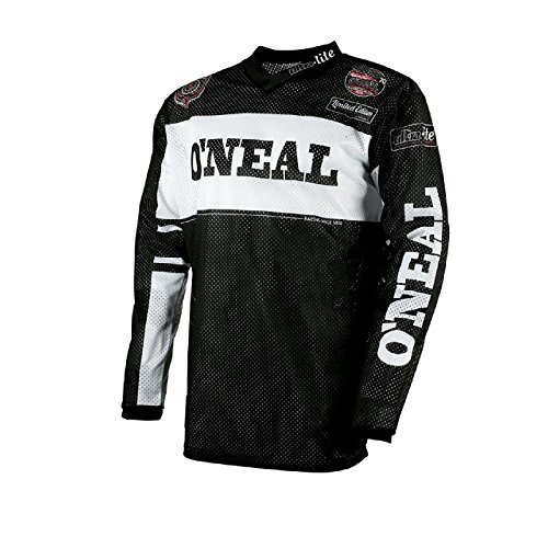 Vintage Bike Jersey (O'Neal Ultra Lite 75 Jersey Schwarz Weiß MX MTB DH Quad Trikot Motocross Offroad, 0019-50, Größe L)