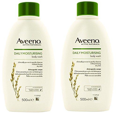 Multibuy 2x Aveeno® Body Wash for Dry and Sensitive Skin – 500ml