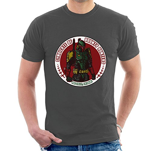 Syndicate Insignia Boba Fett Bounty Hunters Star Wars Men's T-Shirt (Boba Fett Insignia)