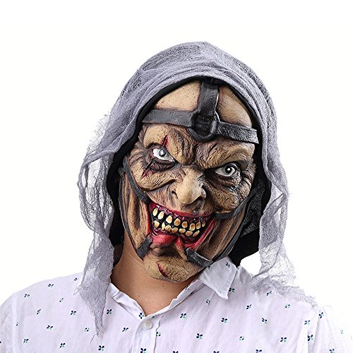 FLy Halloween Horror Hechicera Pokemon Man Mask Amazon Foreign Trade Latex Ghost Mask Sombrero Máscara