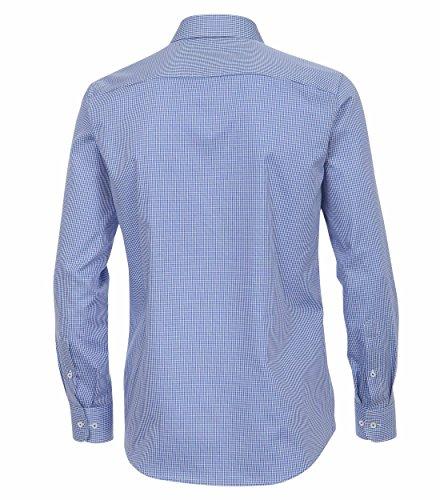 Casa Moda - Modern Fit - Herren Karo Dobby Hemd, Langarm mit Kent Kragen aus 100% Baumwolle (362612200A) Blau (100)