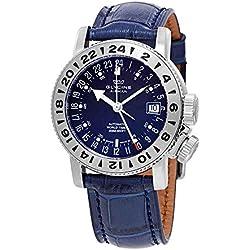 Glycine Airman 18 GMT - Reloj para Hombre, dial Azul automático, GL0222