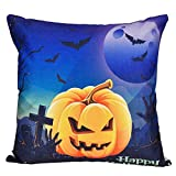 SEWORLD Halloween Kissenbezüge Leinen Baumwolle Sofa Kissenbezug Home Decor H