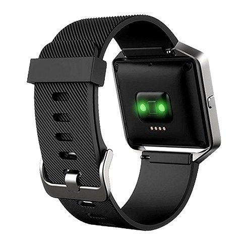 Ersatz-Silikon-Armband / Ersatz-Sport-Band für Fitbit Blaze-Bänder, schwarz (Fitbit Xl Band)